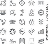 thin line icon set   route... | Shutterstock .eps vector #1296411277