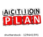 3d action plan button click... | Shutterstock . vector #129641591