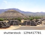 view from the pyramid of moon... | Shutterstock . vector #1296417781