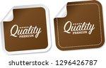 premium quality stickers | Shutterstock .eps vector #1296426787