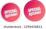 special discount stickers | Shutterstock .eps vector #1296426811