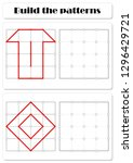 build the correct patterns.... | Shutterstock . vector #1296429721