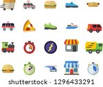 color flat icon set stopwatch... | Shutterstock .eps vector #1296433291