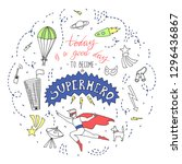 doodle style illustration. hand ... | Shutterstock .eps vector #1296436867