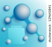 aqua speech bubbles | Shutterstock .eps vector #129643841