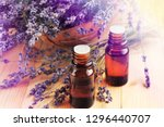 essential oil of lavender... | Shutterstock . vector #1296440707