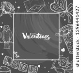 valentine illustration on... | Shutterstock .eps vector #1296441427