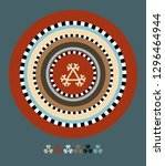 ornaments of the indigenous... | Shutterstock .eps vector #1296464944