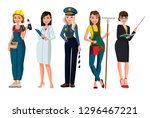 women different profession... | Shutterstock .eps vector #1296467221