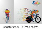 visual drawing bike fast of... | Shutterstock .eps vector #1296476494