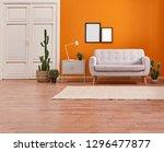 orange room  orange wall and... | Shutterstock . vector #1296477877