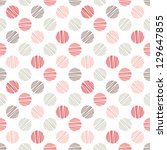 seamless pattern. stylish polka ... | Shutterstock .eps vector #129647855