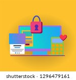 vector infographic with colored ... | Shutterstock .eps vector #1296479161