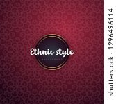 luxury ornamental mandala... | Shutterstock .eps vector #1296496114