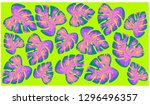 exotic bright colored tropical... | Shutterstock .eps vector #1296496357