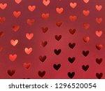 red glitter texture christmas... | Shutterstock . vector #1296520054