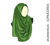 hijab muslimah vector   Shutterstock .eps vector #1296523501
