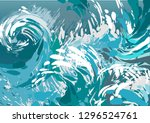 abstract sea blue and white... | Shutterstock .eps vector #1296524761