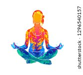 Abstract Woman Meditating From...