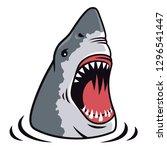shark attack vector... | Shutterstock .eps vector #1296541447