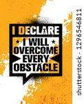 i declare i will overcome every ... | Shutterstock .eps vector #1296546811