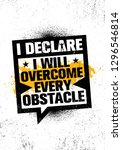 i declare i will overcome every ... | Shutterstock .eps vector #1296546814