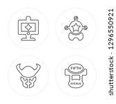4 line computer  bison  sheriff ... | Shutterstock .eps vector #1296550921
