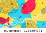 pop art color background.... | Shutterstock .eps vector #1296554371