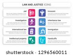 set of 8 white law and justice... | Shutterstock .eps vector #1296560011
