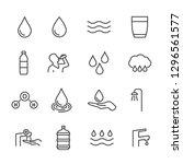 vector set of water line icons. | Shutterstock .eps vector #1296561577