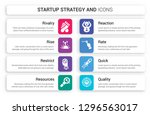 set of 8 white startup strategy ... | Shutterstock .eps vector #1296563017