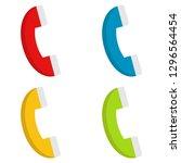 phones. set of multicolored...