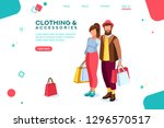 bags for smiling. outfits.... | Shutterstock . vector #1296570517