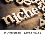 niche wood word | Shutterstock . vector #1296575161