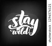 chalkboard blackboard lettering ... | Shutterstock .eps vector #1296576121