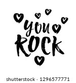 you rock. valentines day... | Shutterstock .eps vector #1296577771