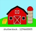 farm scene | Shutterstock . vector #129660005