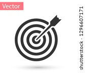 grey target with arrow icon... | Shutterstock .eps vector #1296607171