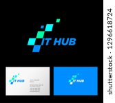 it hub logo. web interface icon....
