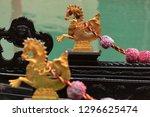 close up of a golden seahorse ...   Shutterstock . vector #1296625474