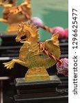 close up of a golden seahorse ...   Shutterstock . vector #1296625477