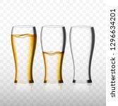 empty and full beer glass for... | Shutterstock .eps vector #1296634201