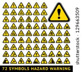 72 Symbols Triangular Warning...