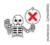 cartoon vector skeleton with... | Shutterstock .eps vector #1296638581
