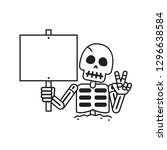 cartoon vector skeleton with... | Shutterstock .eps vector #1296638584