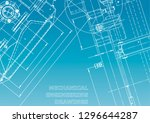 blueprint. vector engineering... | Shutterstock .eps vector #1296644287