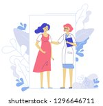 medicine concept of pregnancy... | Shutterstock .eps vector #1296646711
