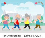 vector illustration of senior... | Shutterstock .eps vector #1296647224