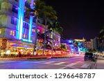 usa. florida. miami beach 2019  ... | Shutterstock . vector #1296648787