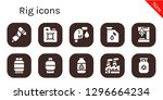 rig icon set. 10 filled rig... | Shutterstock .eps vector #1296664234